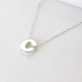 Sterling Silver Initial C Pendant Necklace • Letter C Necklace