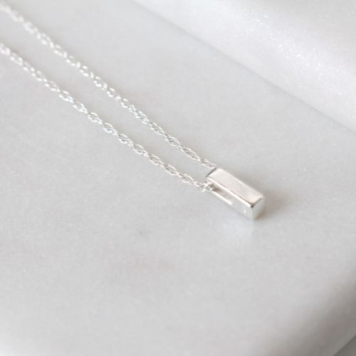 Sterling Silver Initial I Pendant Necklace • Letter I Necklace