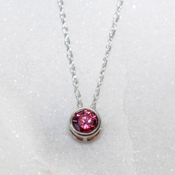 Swarovski Red Zirconia Sterling Silver Pendant Necklace