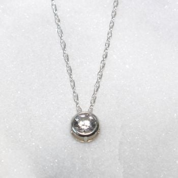Swarovski White Zirconia Sterling Silver Pendant Necklace