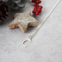 Sterling Silver Script Initial C Pendant Necklace | Letter C Necklace