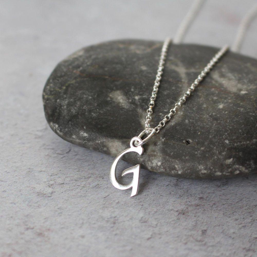 Necklace-Script Initial Necklace