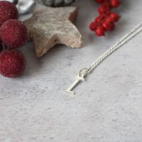Sterling Silver Script Initial I Pendant Necklace • Letter I Necklace