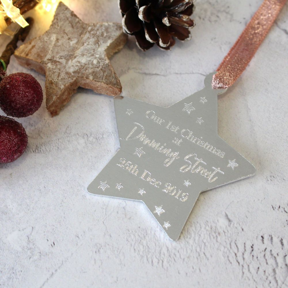 New Home 1st Christmas Star Shaped Tree Decoration