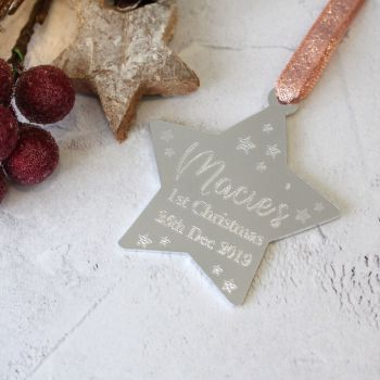 Baby's 1st Christmas Star Tree Decoration