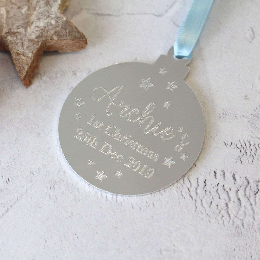 Baby's 1st Christmas Bauble Tree Decoration