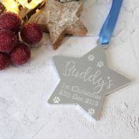 Pet's 1st Christmas Star Tree Decoration