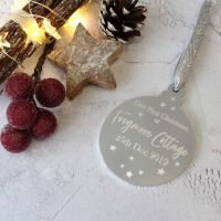 New Home 1st Christmas Bauble Tree Decoration