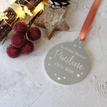 Memorial - In Loving Memory Christmas Bauble Tree Decoration