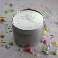 Silver Tooth Fairy Box with Fairy Design