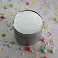 Silver Tooth Fairy Box with Poem Design