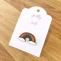 Rainbow Cloud Pin Badge