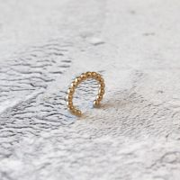 Gold Filled Beaded Wire Ear Cuff