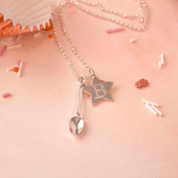 Star Baker Necklace - Personalised Sterling Silver Necklace