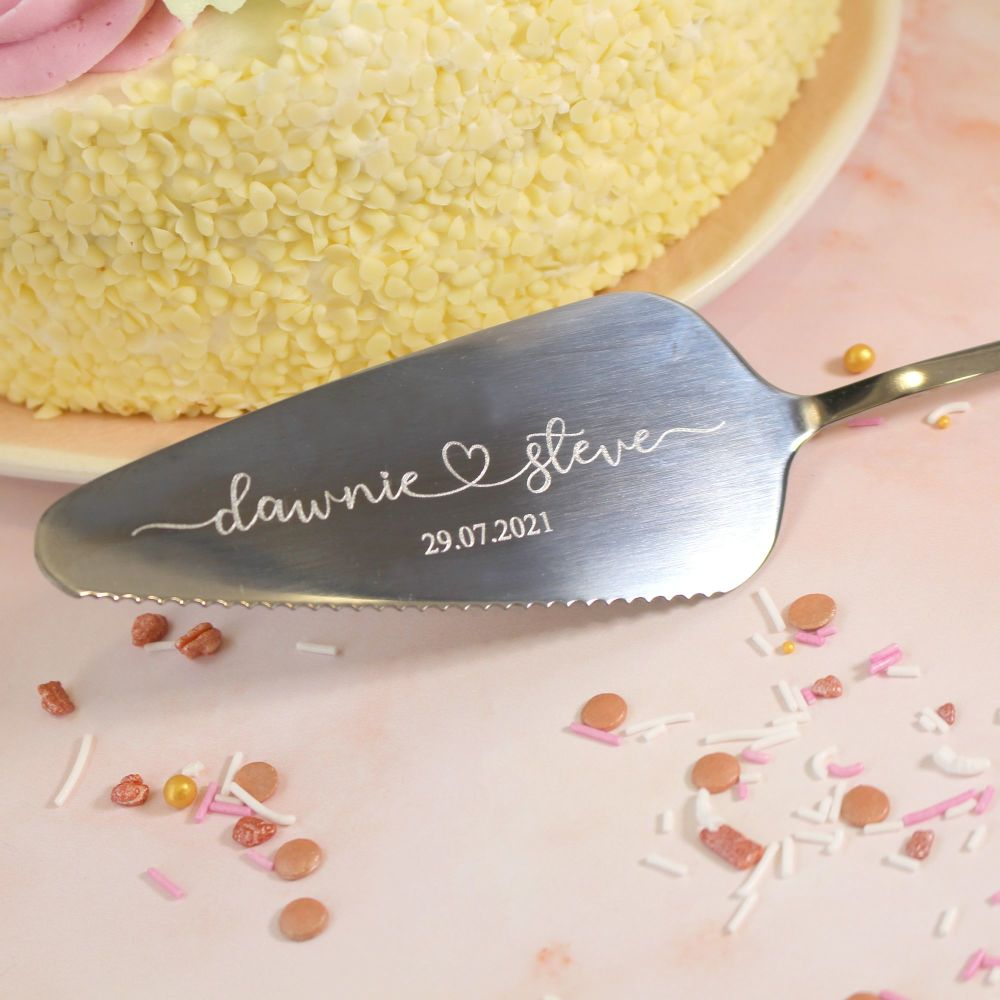Personalised Cake Server Knife | Wedding Gift | Polly Red