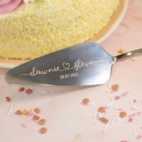 Wedding Gift Personalised Cake Server Knife
