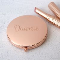 Rose Gold Personalised Compact Mirror