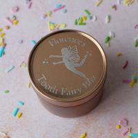 Rose Gold Tooth Fairy Box with Fairy Design