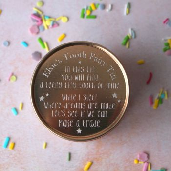 Rose Gold Tooth Fairy Box with Poem Design