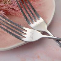 Silver Wedding Cake Fork Set