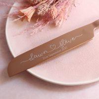 Personalised Rose Gold Wedding Cake Knife