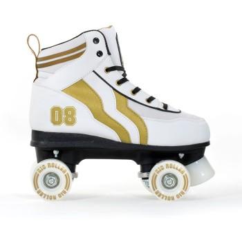 Rio Roller Varsity Roller Skates Limited Edtion! White & Gold
