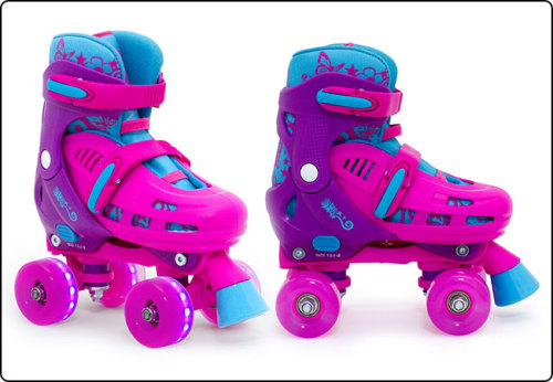 SFR Hurricane Lightning Adjustable Roller Skates with Flashing Wheels 8J-6A