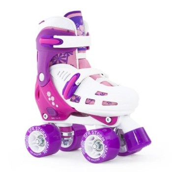 SFR Storm Adjustable Roller Skates 8J-6A Purple & White