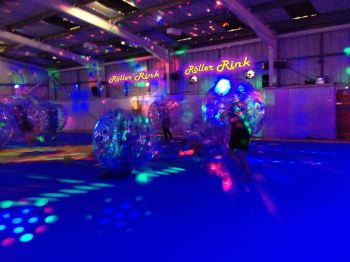 bubble football party cornwall roller rink disco