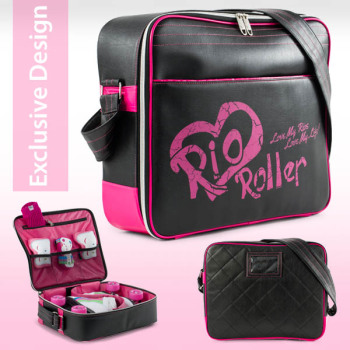 Rio Roller Fashion Skate Bag Black-Pink - SALE £5 OFF