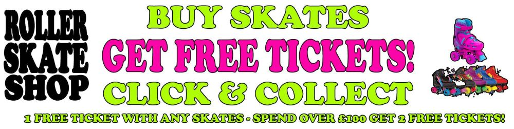 Free Roller Disco Tickets when you buy Roller Skates