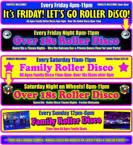 roller disco times jan feb