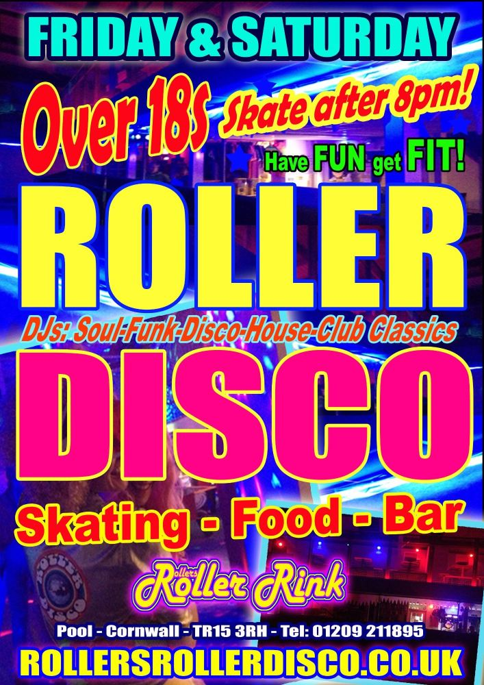 Over 18s Roller Disco Cornwall
