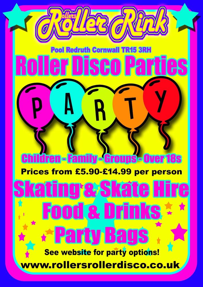 Book your Roller Disco Party Today!