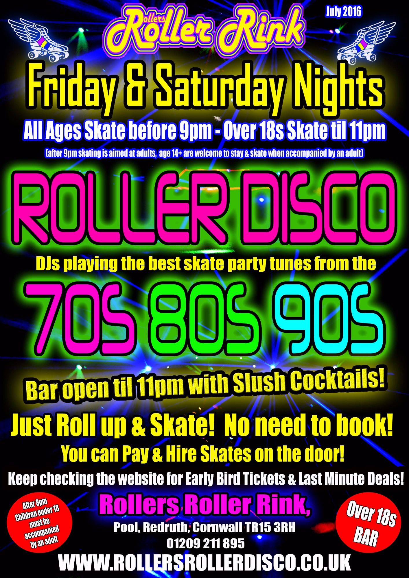 Friday and Saturday Nights Roller Disco 2016