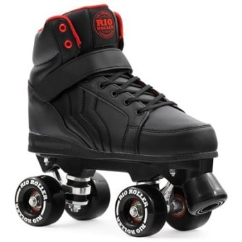 Rio Roller Kicks Quad Roller Skates Black - SALE £10 OFF