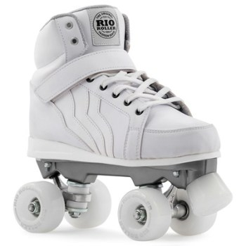 Rio Roller Kicks Quad Roller Skates White - SALE £10 OFF