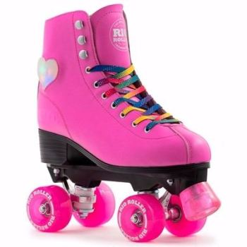 Rio Roller Pink Figure Lights Quad Roller Skates - Reduced!