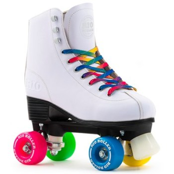 Rio Roller Figure Quad Roller Skates White