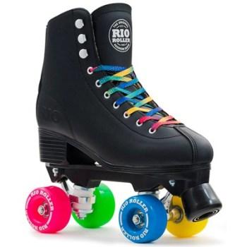 Rio Roller Figure Quad Roller Skates Black