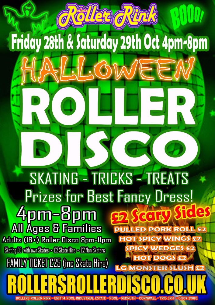 Halloween Roller Disco Party Cornwall
