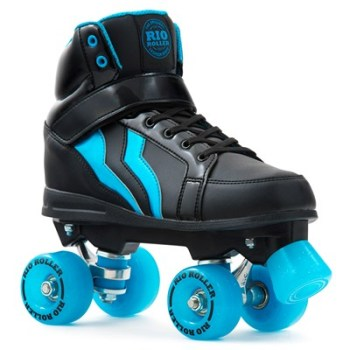 Rio Roller Kicks Quad Roller Skates Black/Blue - SALE £10 OFF