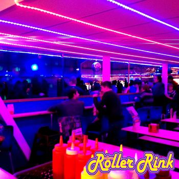 rinkside cafe bar at the roller rink cornwall