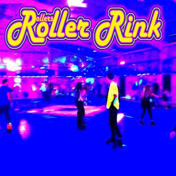 neon skate marshall at the roller disco cornwall