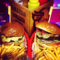 Burgers at Rollers Roller Rink (1)
