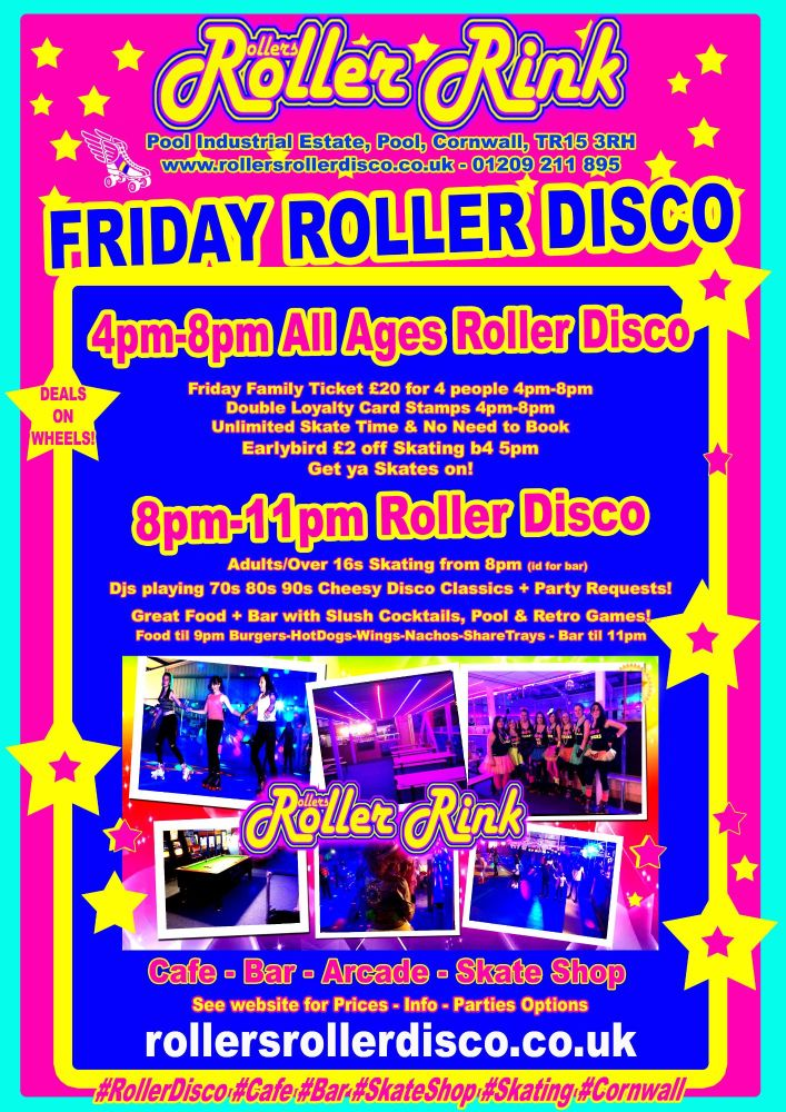Friday Roller Disco Jan 2017 Cornwall