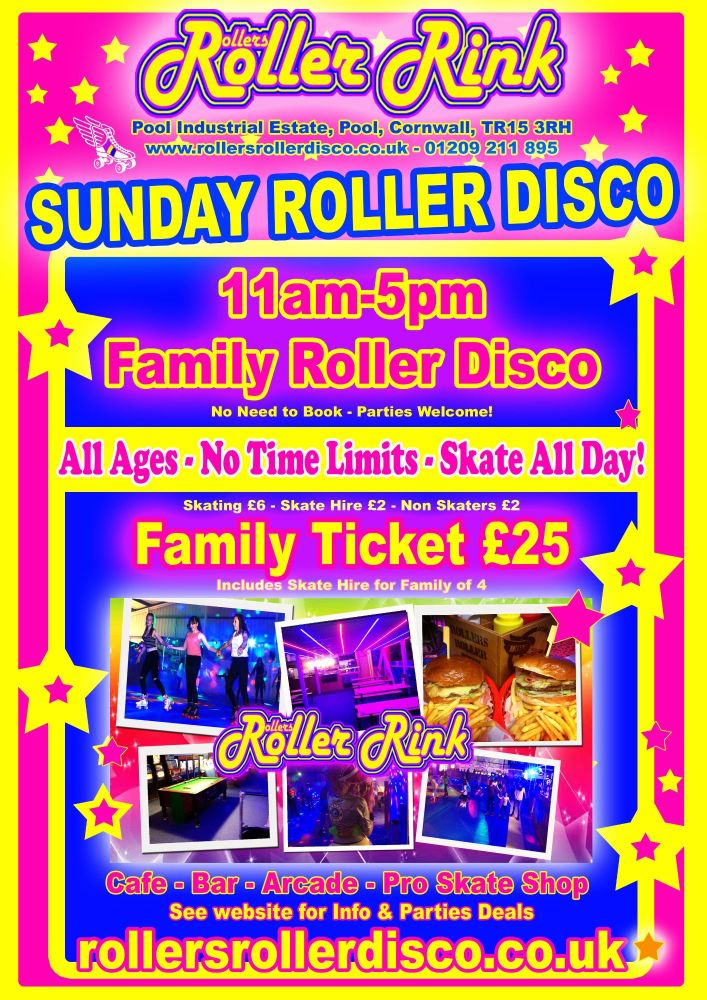 Sunday Roller Disco Cornwall 2017