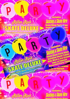 Skate Deluxe Roller Disco Party at Rollers Roller Rink Cornwall