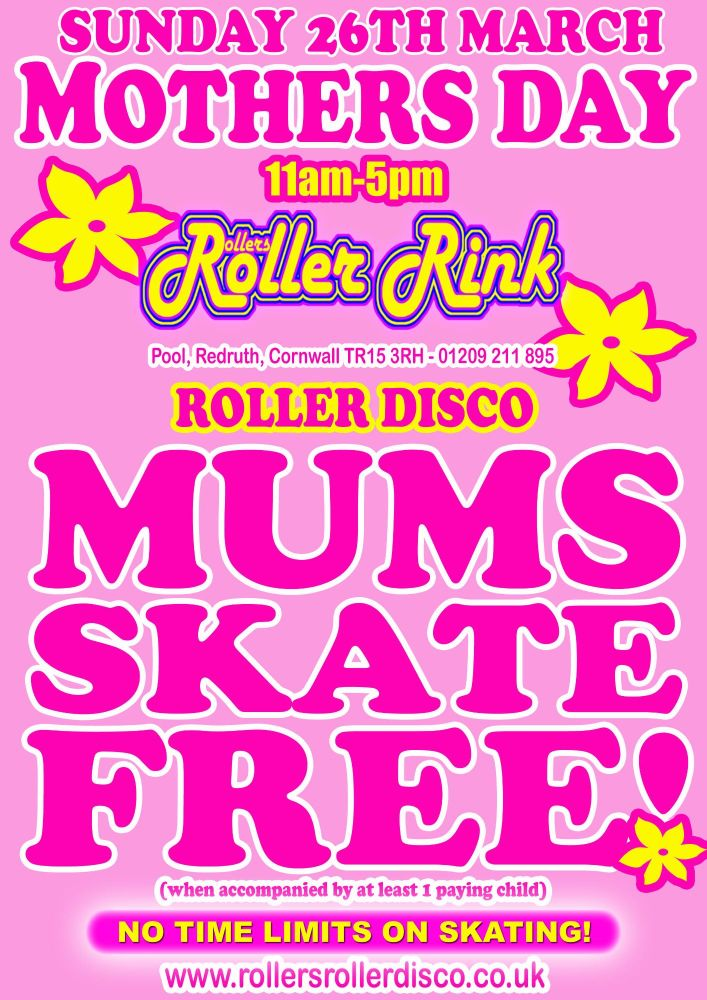 Mums Skate for Free on Mothers Day! 2017