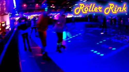 Neon Skaters at the Roller Disco Cornwall
